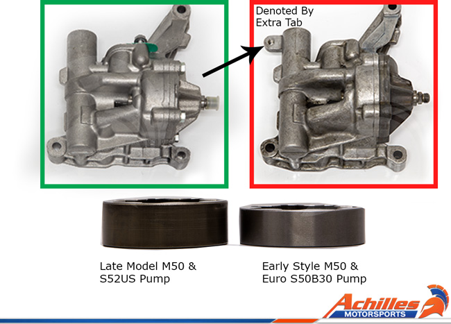 Achilles Motorsports Upgraded Oil Pump Shaft Kit - BMW S54/S50B30/B32Euro  Engine Swap using M50 Pump Conversion